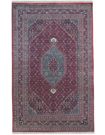 Mahi Bidjar Red Woolen Handmade Carpet