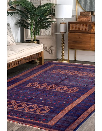 Hexagonal Series Kilim Area Rug