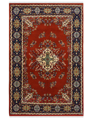 Center Diamond Kashan Wool Area Rug