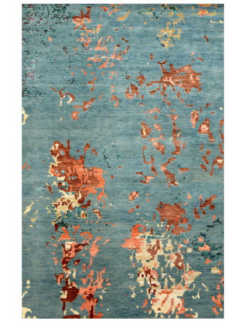 Cracked Wall Handknotted Modern Wool Area Rug