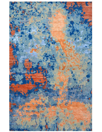 Orange spray Handmade Modern Carpet