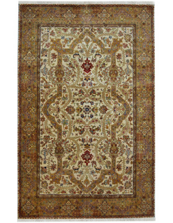 Lillian Cream Fine Handknotted Carpet