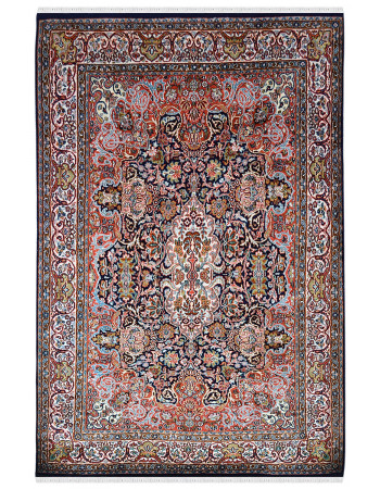 Art of Kashmir Handknotted Silk Carpet