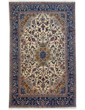 Persian Blue Medallion Fine Carpet