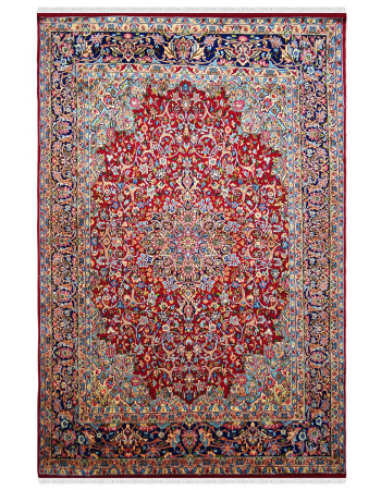 Classic Red Queen Handknotted Wool Area Rug