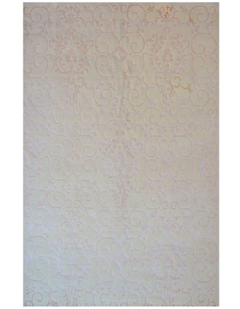 Self-embossed Ivory Wool Rug