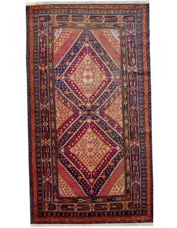 fghan Dastur Brown Medium Rug