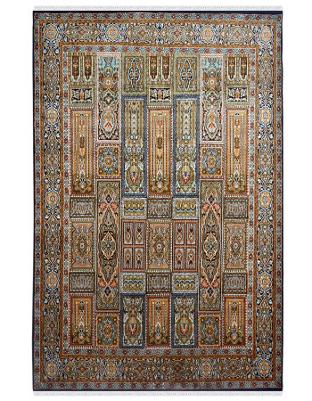 Jewel Hamadan Handknotted Silk Area Rug