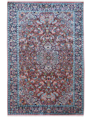 piral Flower Kashmiri Silk Area Rug