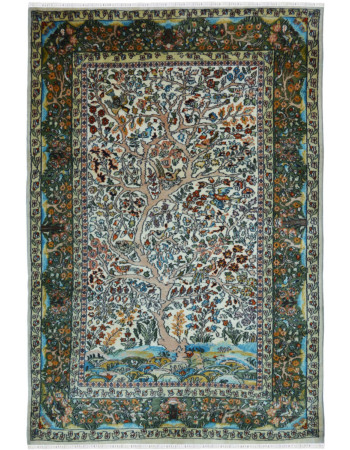 Floral Bagh Handknotted Pure Silk Rug
