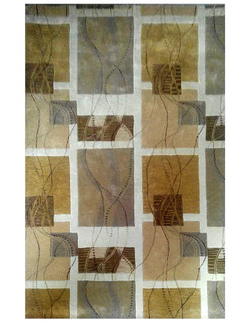 Boxed Patchwork Modern Hand-tufted Rug