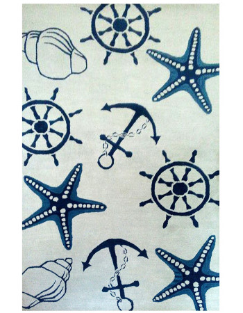 Nautical Star Beautiful Modern handtufted Wool Rug