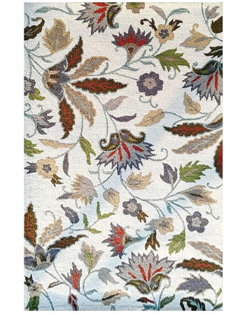 Floral Paradise Beautiful Handmade Tufted Carpet