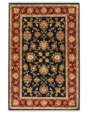 Beautiful Floral Jaal Handknotted Wool Area Rug