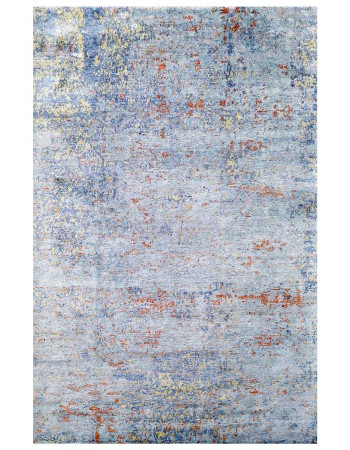 Wall Painting Print Handknotted Area Rug