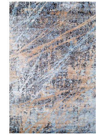 Blue Contemporary Wool Handmade Area Rug