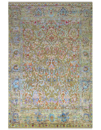 Old Song Sari Silk Area Rug