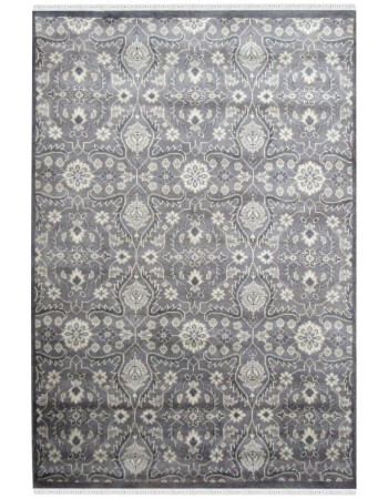 Diamond Gray Floral Monochrome Area Rug