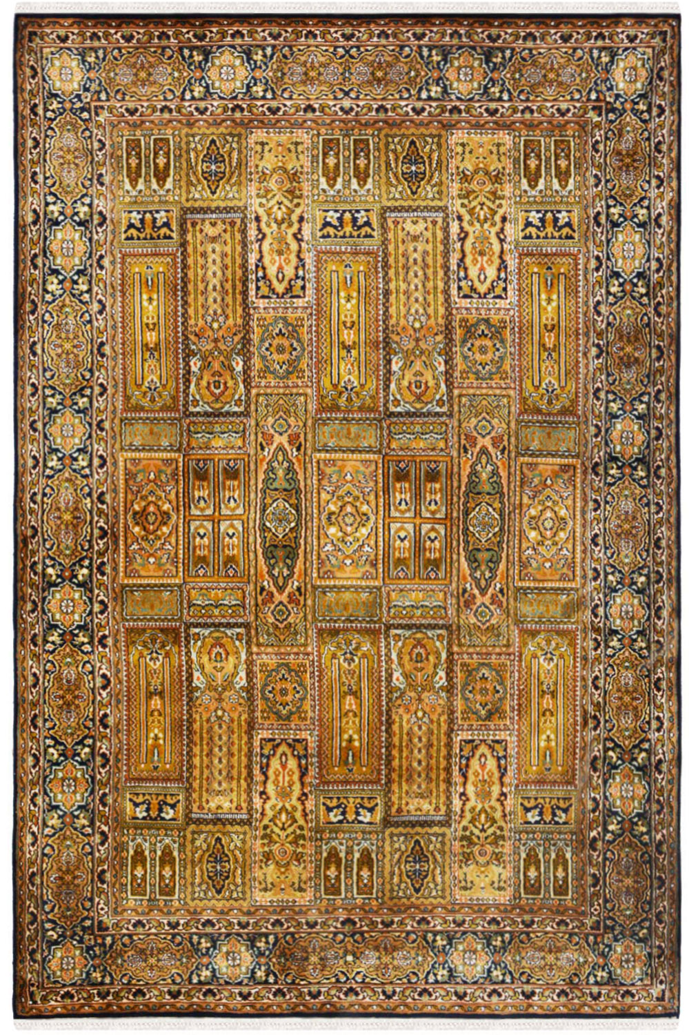 Gold Column Qum Silk Rugs And Carpet Online At Best Price