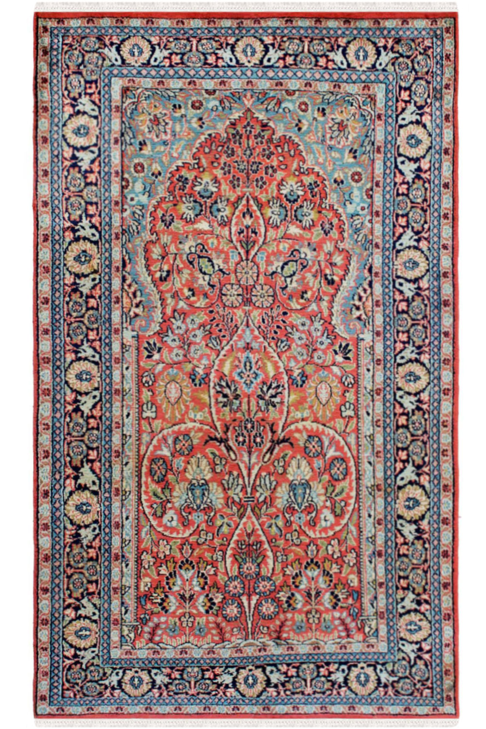 Prayer Tree Of Life Kashmiri Silk Rugs Online At Best Price
