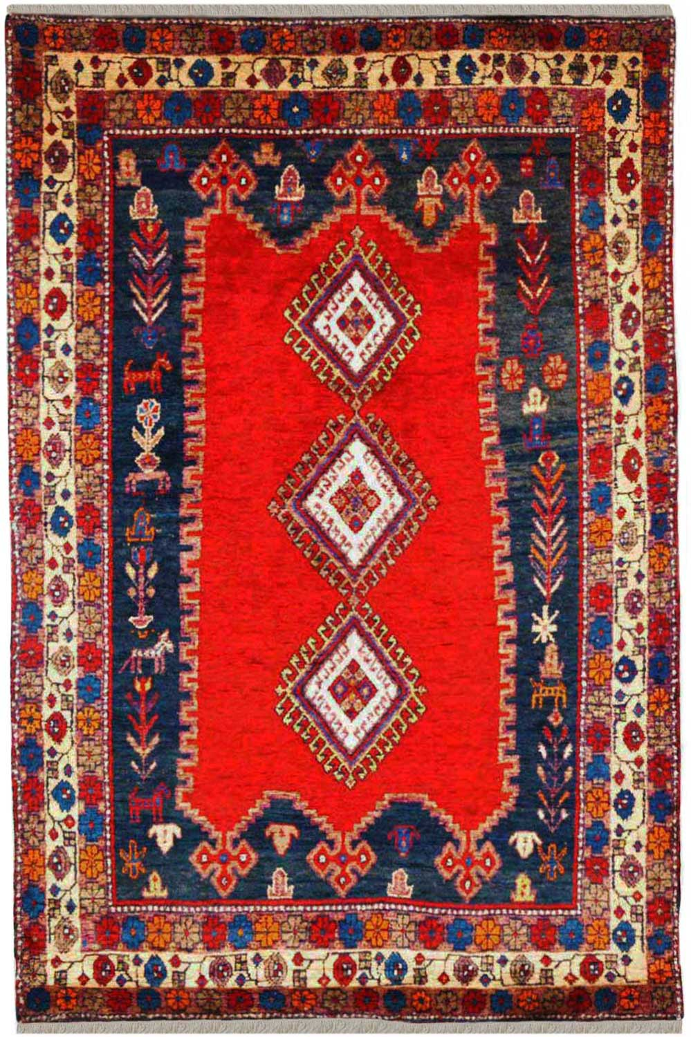 Rouge Irani Rug Handmade Red Afghan Carpets Online At