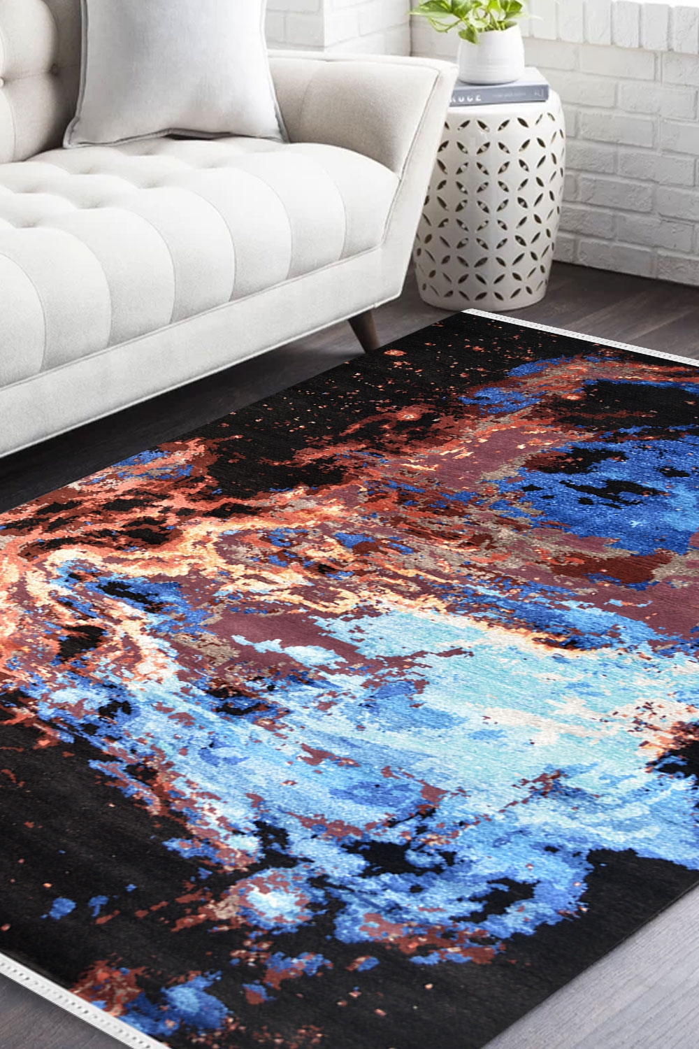 Solar Vibes Handmade Modern Carpet With Pure New Zealand Wool
