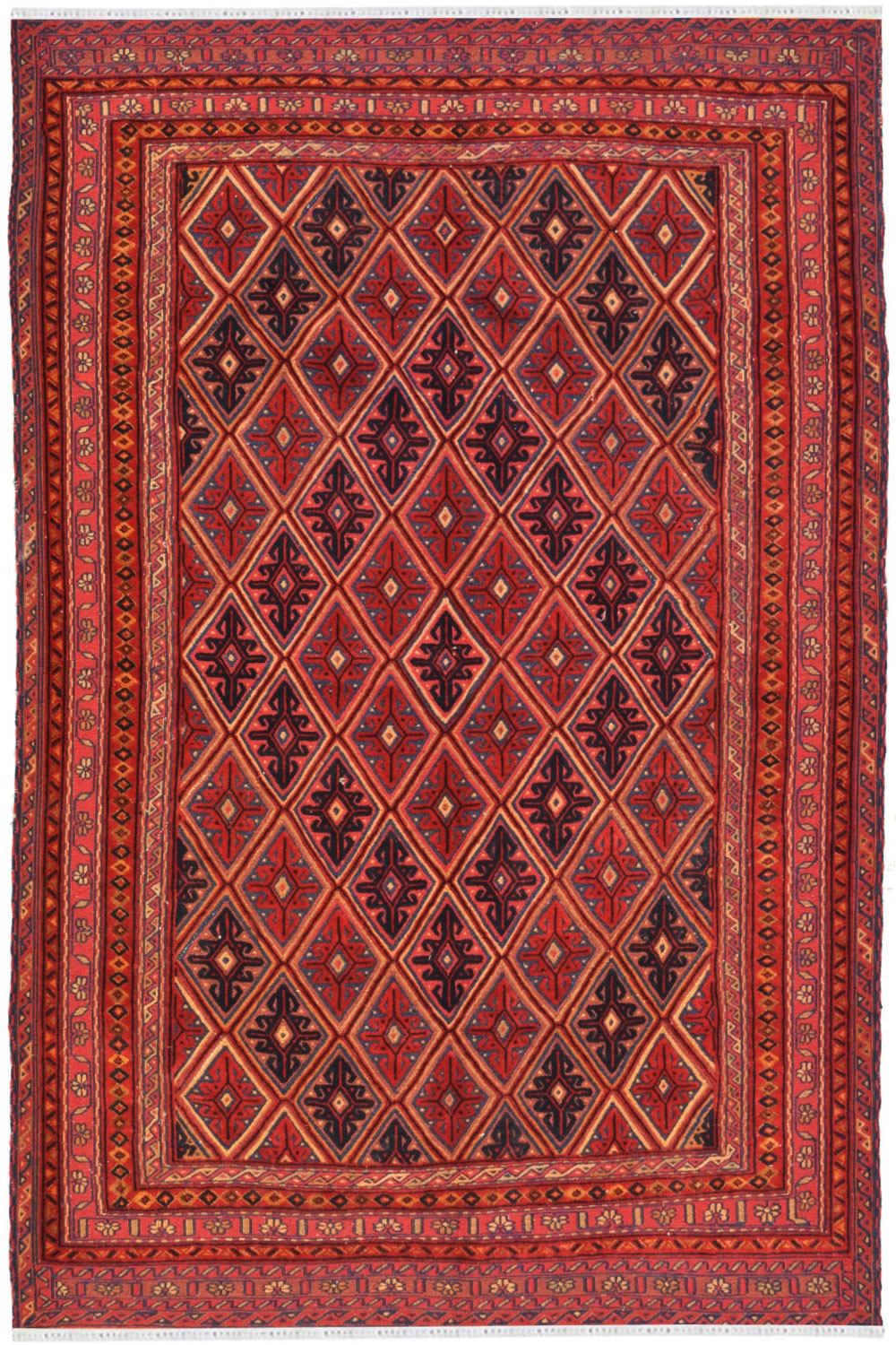 Beautiful Caucasian Abstract Turkish Kilim Rugs For Sale