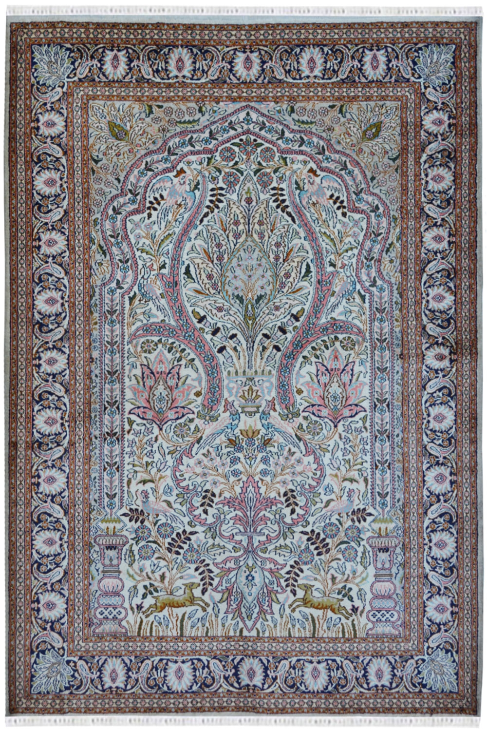 Chinese Tree Of Life Silk On Cotton Handmade Carpets With