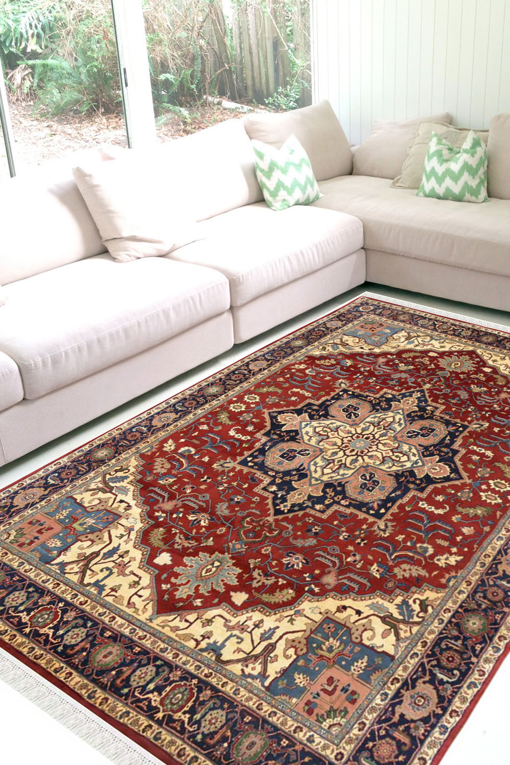Buy Open Laal Bidjar Rug Shop Natural Wool Rugs At Rugs