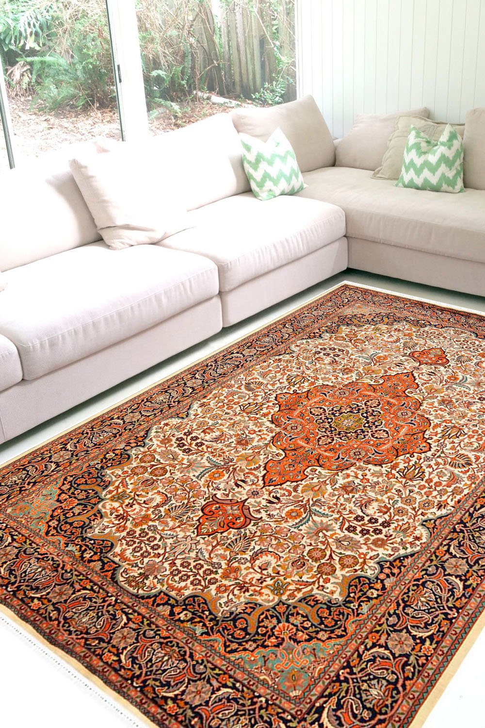 Eye Catching Handknotted Santri Medallion Wool Rugs Online