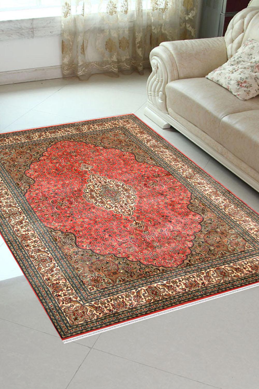 Buy 4x6 Gulab Medallion Kashan Silk Area Rugs Online