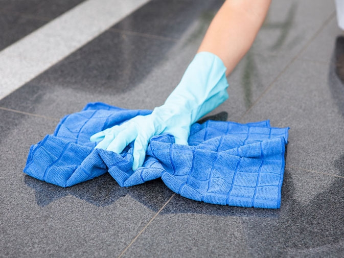 Cleaning of surface