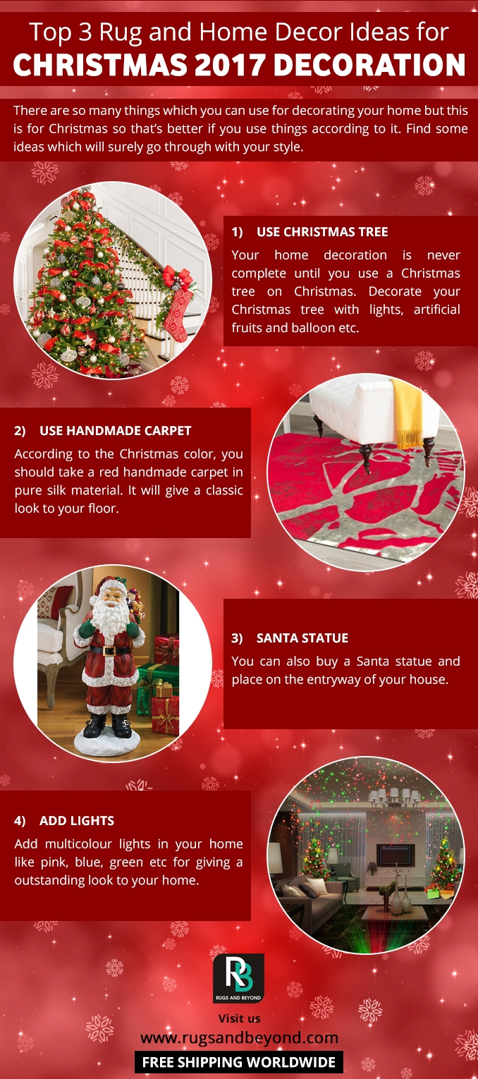 Top 3 Rug And Home Decor Ideas For Christmas 2017 Decoration